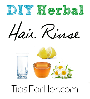 DIY Herbal Hair Rinse