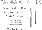 Mascara as Liquid Eyeliner