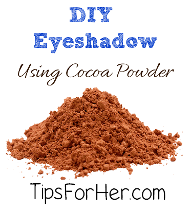 DIY Eyeshadow Using Cocoa Powder