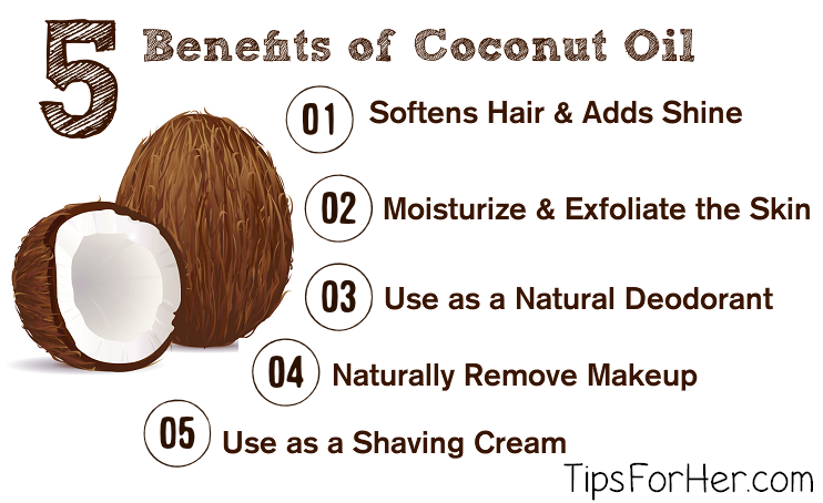 5 Benefits of Coconut Oil