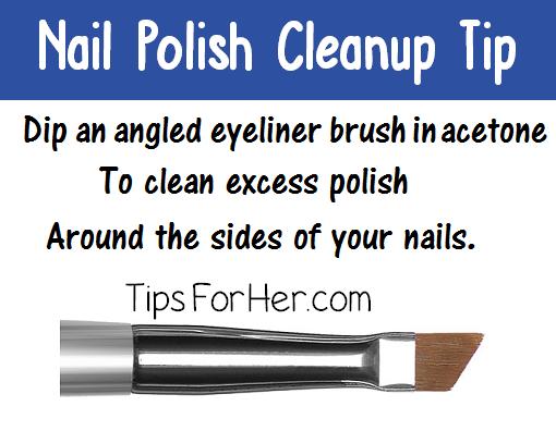 Nail Polish Cleanup Tip