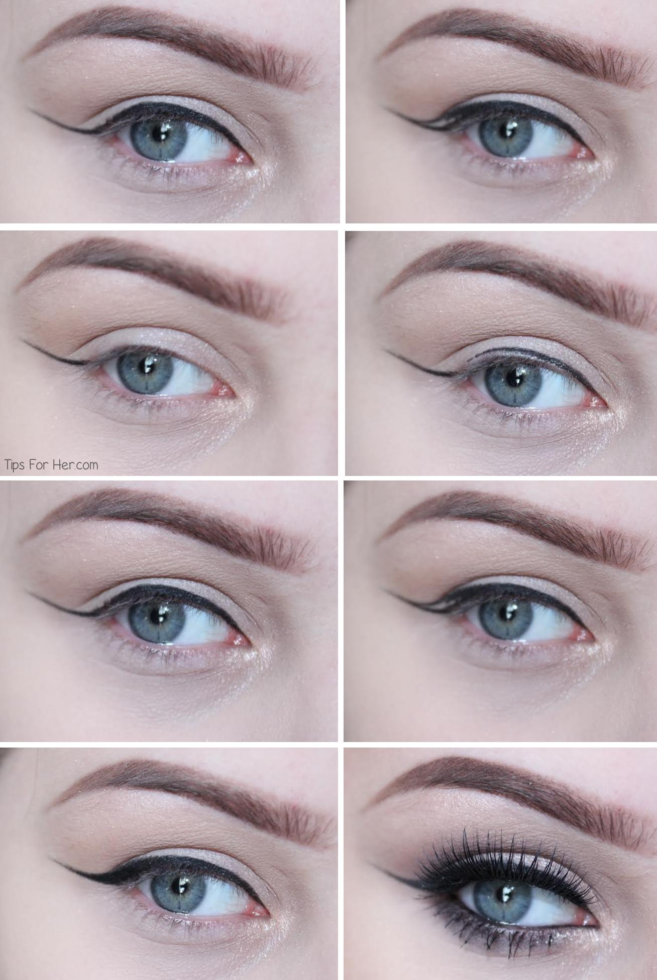 Winged liner tutorial baditri Image collections