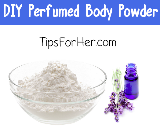 diy perfumed body powder