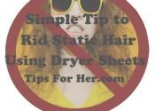 rid static hair