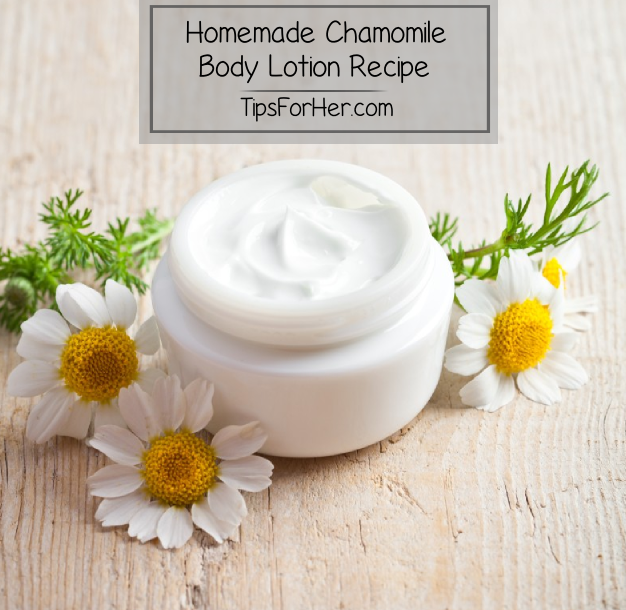 Homemade Chamomile Body Lotion Recipe