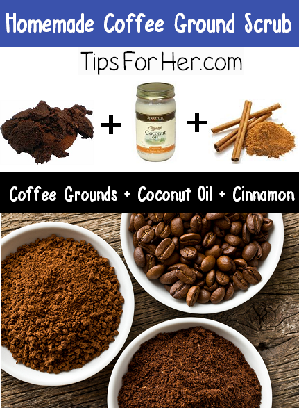 Homemade Coffee Ground Scrub