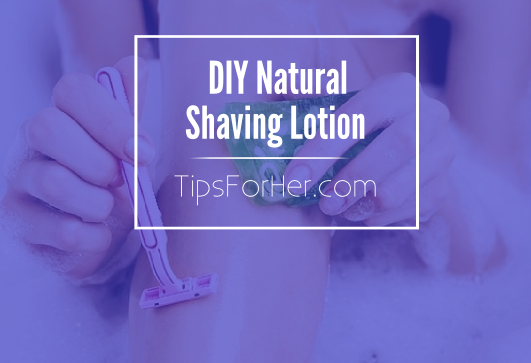 DIY Natural Shaving Lotion