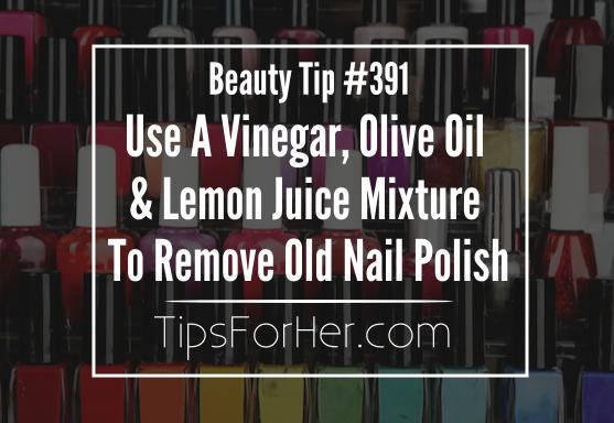 Remove Old Nail Polish Tip