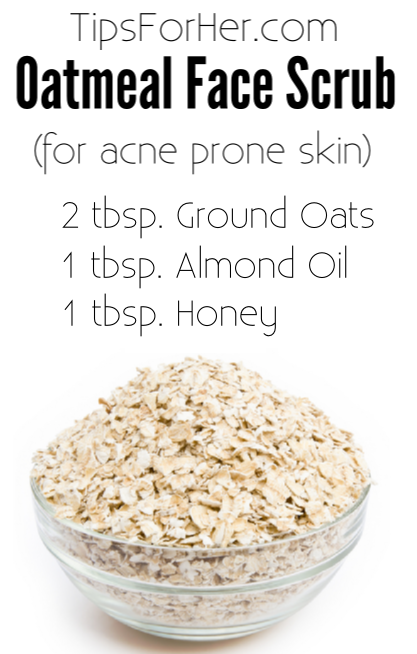 DIY Oatmeal Face Scrub