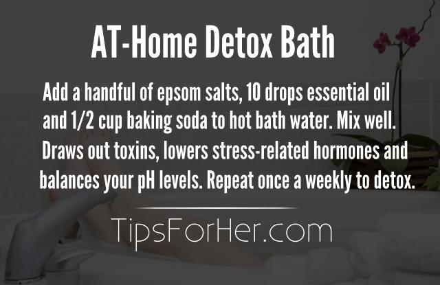 At Home Detox Bath
