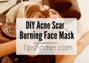 DIY Acne Scar 'Burning' Face Mask