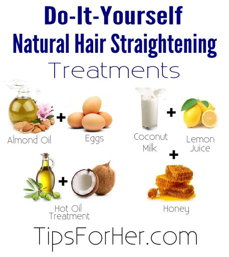 DIY Natural Hair Straightening Treatments