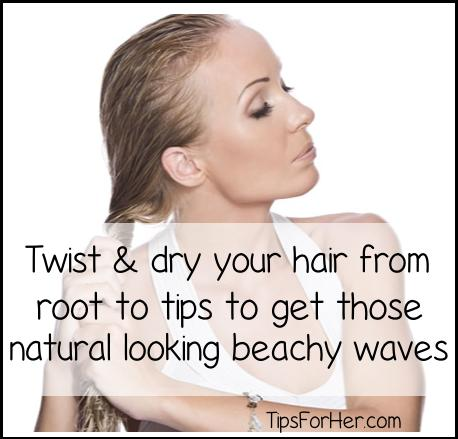 how to get natural looking beachy waves