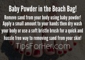 Baby Powder in the Beach Bag!
