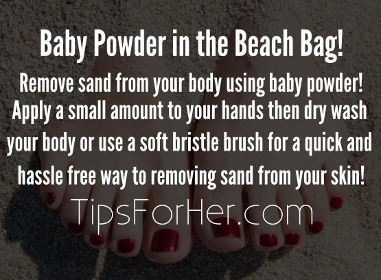Baby Powder in the Beach Bag!