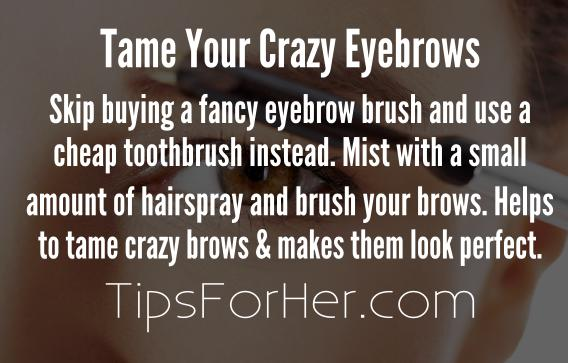 Tip to Tame Your Crazy Eyebrows