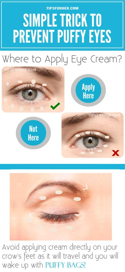How To Prevent Puffy Eyes Trick