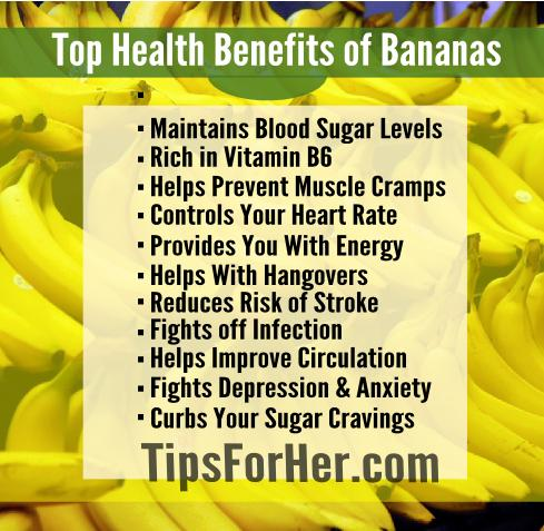 Top Health Benefits of Eating Bananas